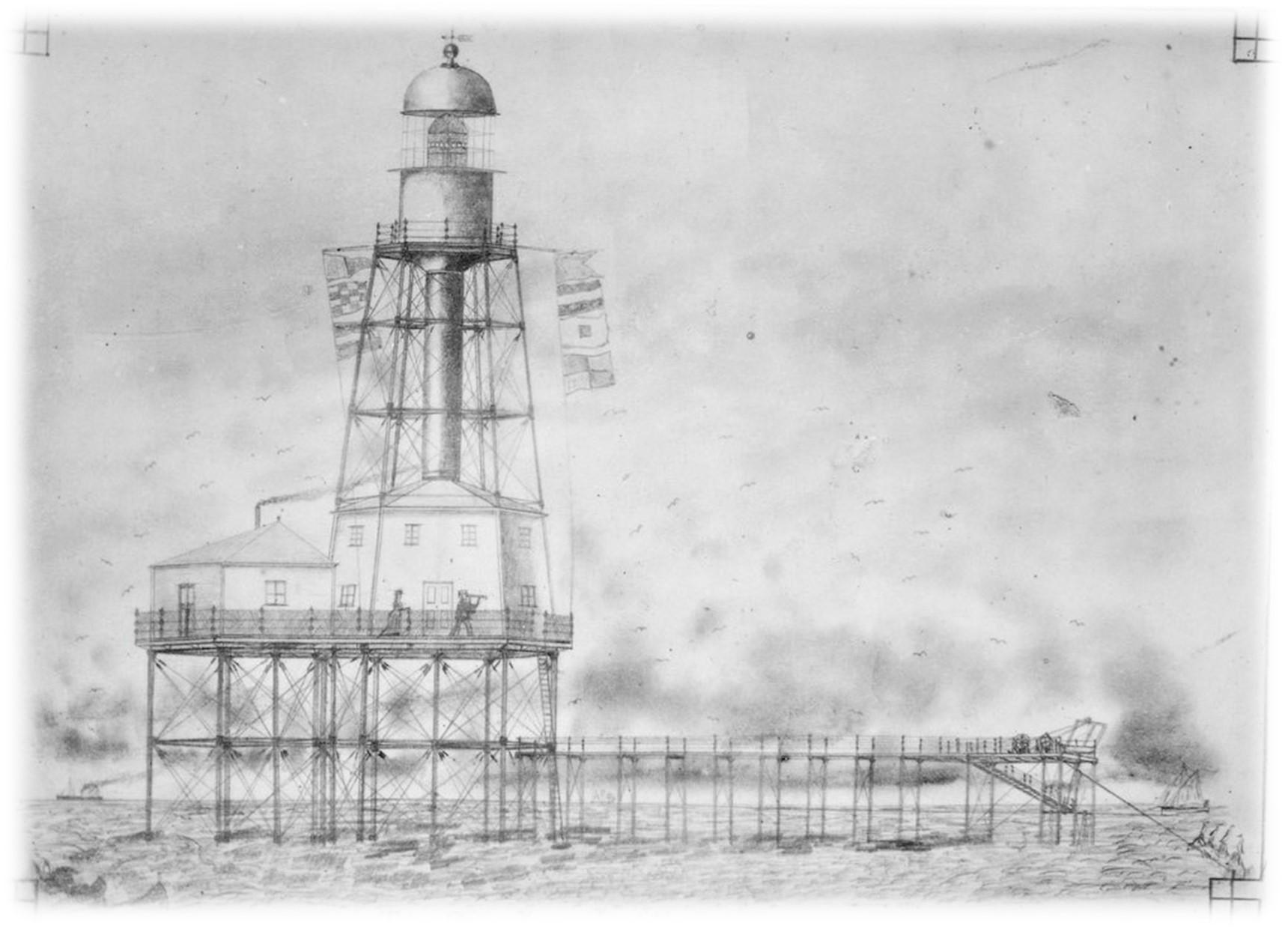 Artists Impression of Cape Jaffa Lighthouse